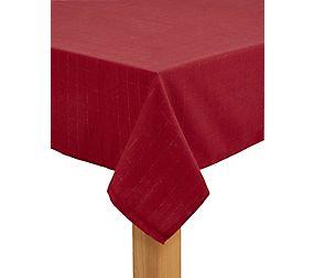 Metallic Check Tablecloth