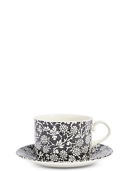Blackberry Cup & Saucer