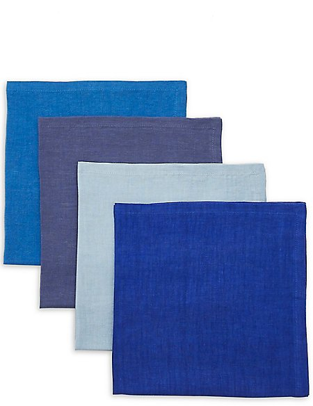 Set of Linen 4 Napkins