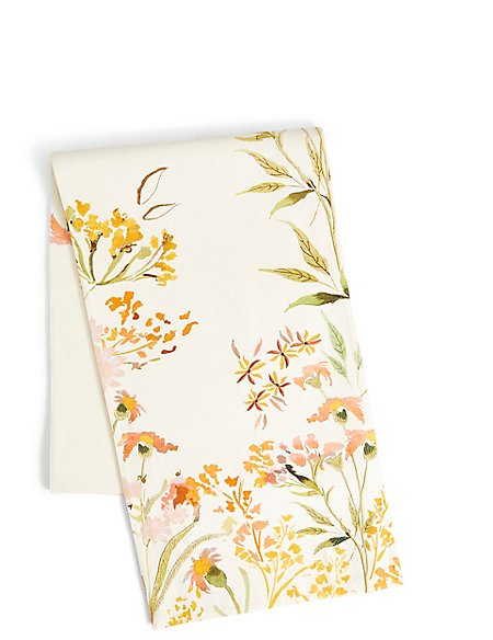 Painterly Floral Print Runner