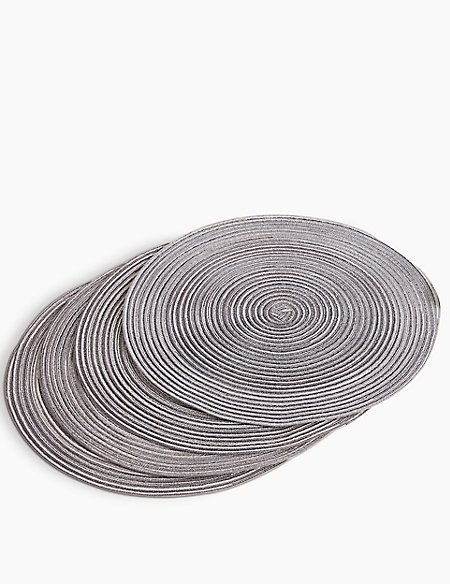 Set of 4 Woven Round Placemat