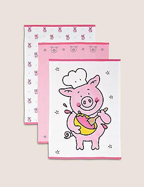 Set of 3 Percy Pig™ Tea Towels