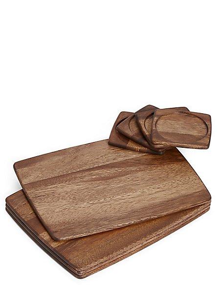 Acacia 8 Piece Mat & Coaster Set