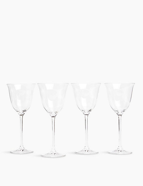 4 Pack Crystal Tulip Wine Glasses