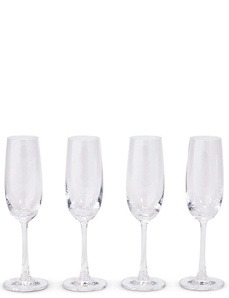 Andante 4 Pack Champagne Flutes