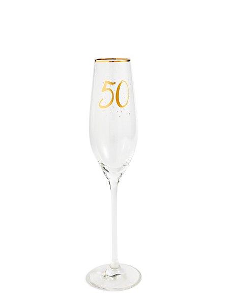 50th Birthday Champagne Flute