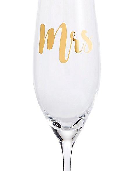 Mrs Champagne Flute