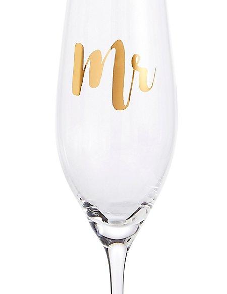 Mr Champagne Flute