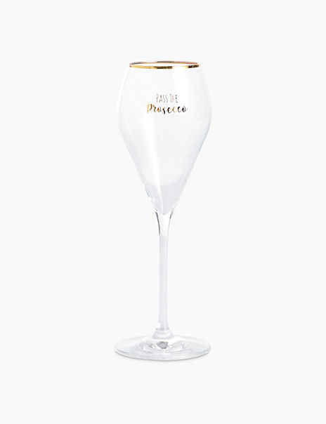 Set of 2 Crystal Prosecco Glasses