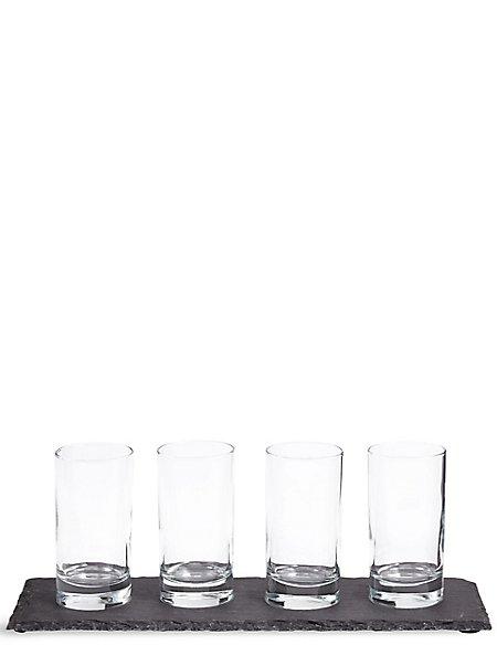 Slate Platter & Serving Glasses