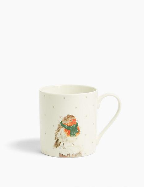 Robin Print Mug