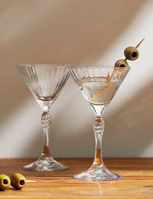 Lot de 2verres à Martini