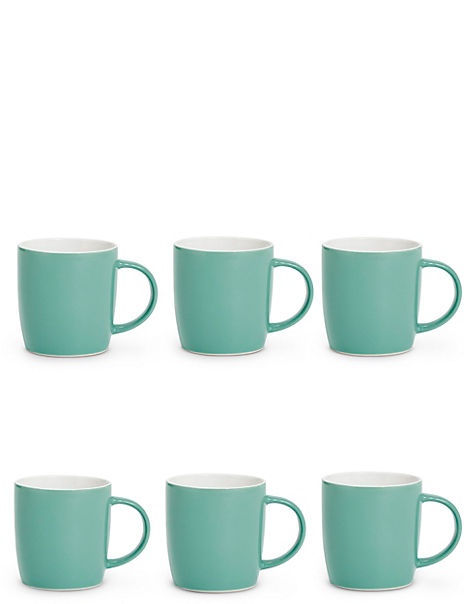 Set of 6 Plain Mugs