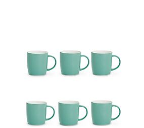 Set Of 6 Plain Mugs