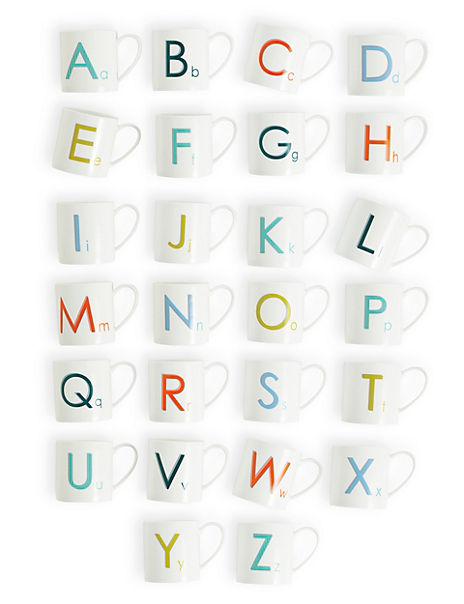 Shadow Alphabet Mug