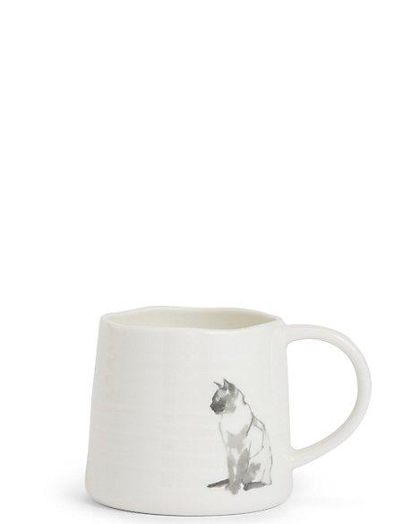 Sitting Cat Print Mug