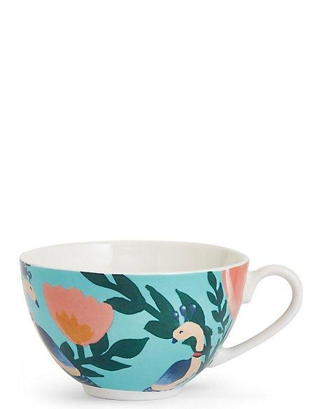 Peacock Print Mug