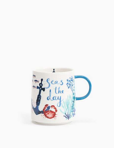 Seas The Day China Mug