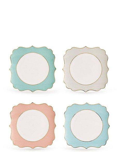 Set of 4 Charleston Plates