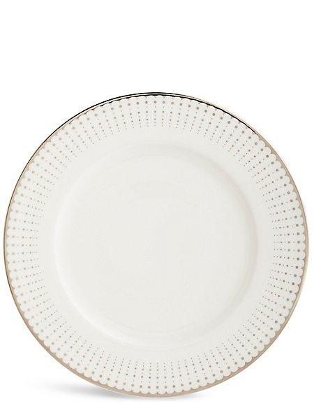 Platinum Decorated Dinner Plate