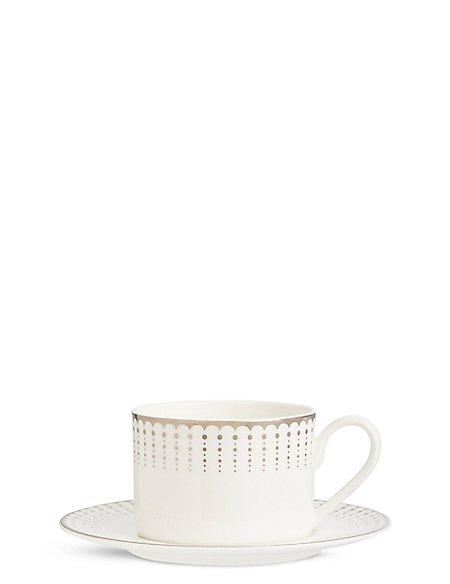 Platinum Decorated Cup & Saucer
