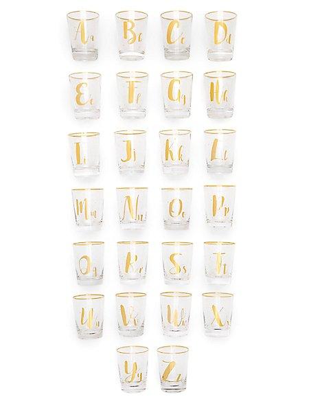 Sparkle Alphabet A - Z Glasses