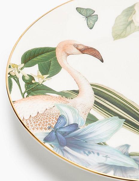 Amelie Flamingo Dessert Plate