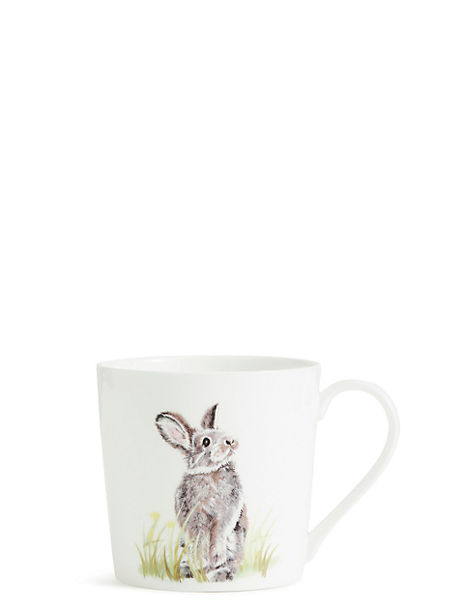 Painted Rabbit Mug