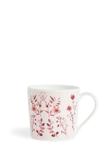 Pink Floral Mug