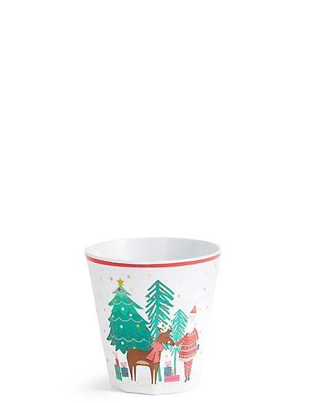 Christmas Melamine Beaker