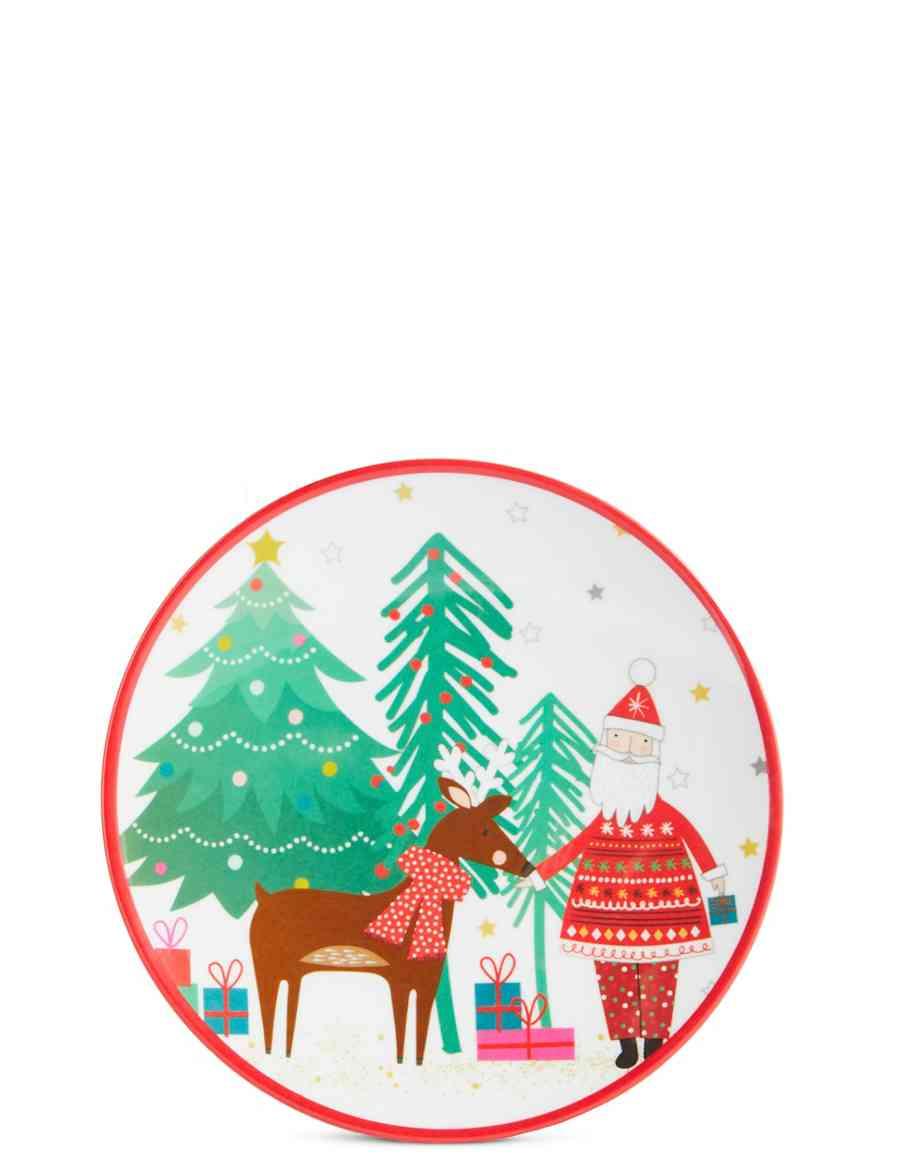 Christmas Melamine Plate | M&S