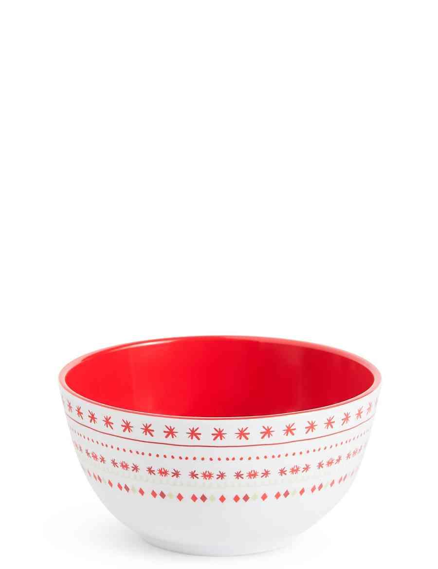 Christmas Melamine Bowl | M&S