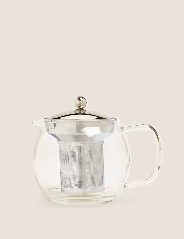 p60185078: Glass Infuser Teapot