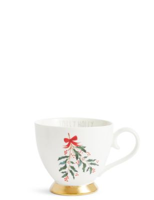 Jolly Holly Mug by Marks & Spencer