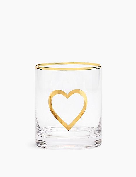 Heart Glass Tumbler