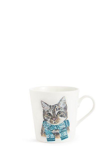 Festive Cat Mug