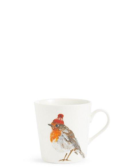Festive Robin Mug