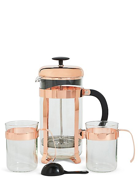 Cafetiere & 2 Glass Gift Set