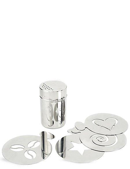 Stainless Steel Shaker & Stencil Gift Set