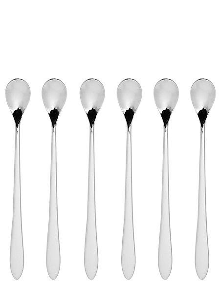 6 Stainless Steel Latte Spoons Cutlery Set