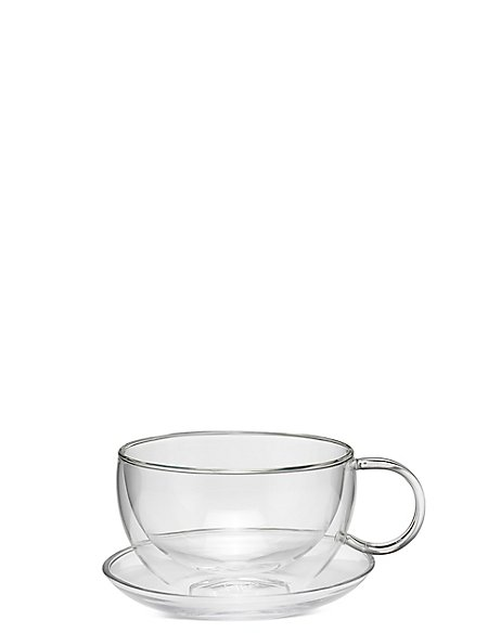 Double Walled Cup & Saucer Gift Set