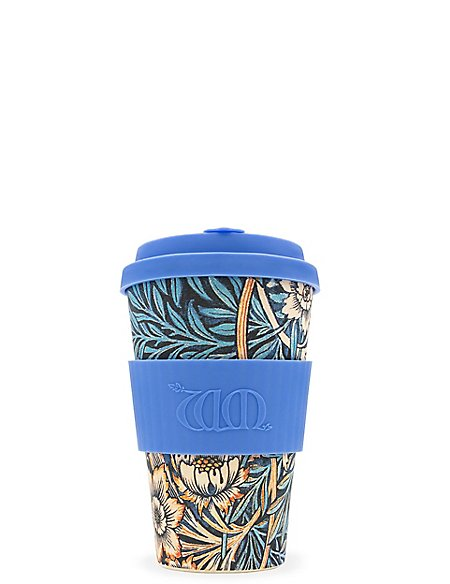 William Morris Lily 14oz Travel Mug