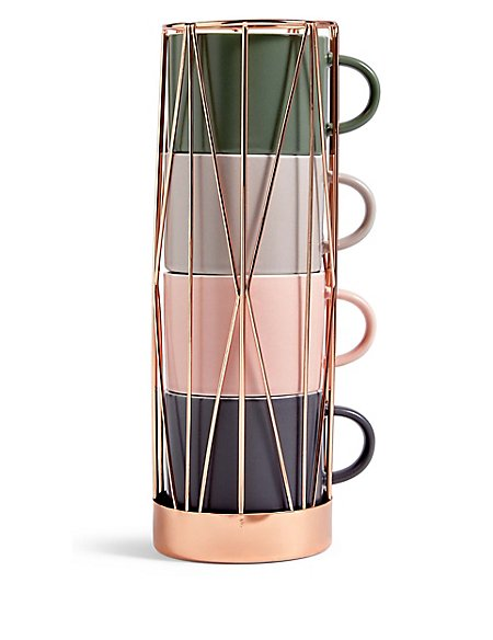 Copper Stacking Cups