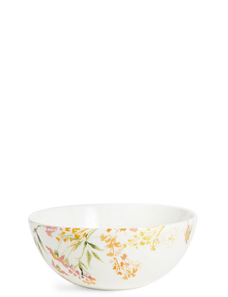 Painterly Floral Cereal Bowl