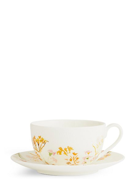 Painterly Floral Cup & Saucer