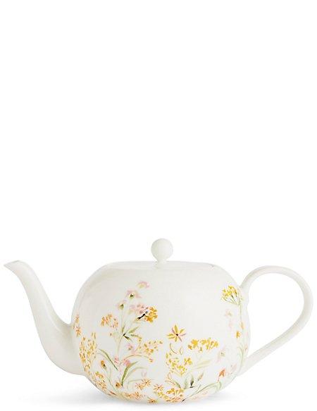 Painterly Floral Teapot