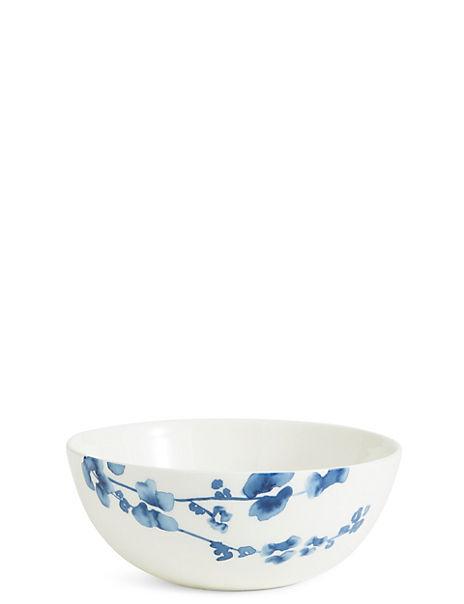 Indigo Floral Cereal Bowl