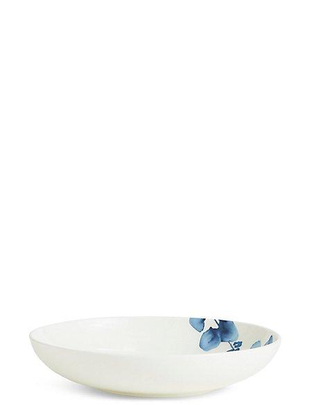 Indigo Floral Pasta Bowl