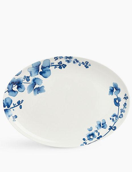 Fine China Floral Oval Platter