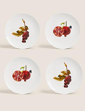 Set of 4 Fruit Side Plates